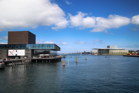 playhouse: COPENHAGEN, DENMARK - AUGUST 15, 2016: The Royal Danish Playhouse (Skuespilhuset) is a National Theater and Opera house on the harbour in Copenhagen, Denmark on August 15, 2016. Editorial