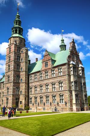 iv: Copenhagen, Denmark – August 15, 2016: Rosenborg Castle is a renaissance castle located in Copenhagen, build by King Christian IV in Copenhagen, Denmark on August 15, 2016.