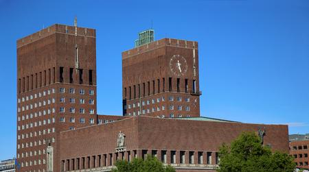Oslo City Hall (Radhus) in Oslo, Norway Editorial