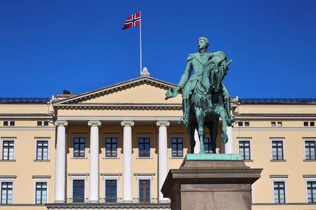 karl: Statue of Norwegian King Karl Johan XIV in Oslo, Norway