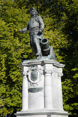admiral: statue of Admiral Peter Tordenskjold in Oslo, Norway Stock Photo