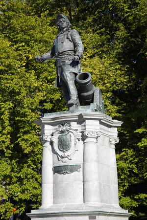 statue of Admiral Peter Tordenskjold in Oslo, Norway Stock Photo