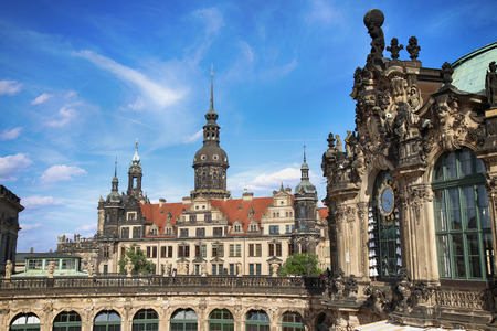 DRESDEN, GERMANY – AUGUST 13, 2016: Dresdner Zwinger, rebuilt after the second world war, the palace is now the most visited monument  in Dresden, Germany on August 13, 2016.