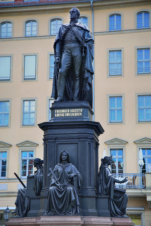 frederic: Monument of Friedrich August King of Saxony at Neumarkt in Dresden, Germany
