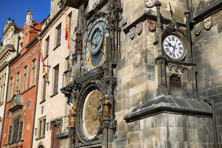 The Prague old City Hall and Astronomical clock Orloj at Old Town Square in Prague, Czech Republic