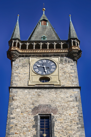 Old Town Clock tower in Stare Mesto, Prague, Czech Republic Stock Photo