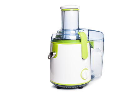 electric juicer on a white background,isolated. Stock Photo