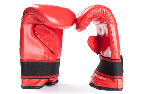 red boxing glove isolated on white