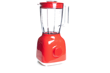 Red Electric Blender Angled isolated on white with a clipping path..