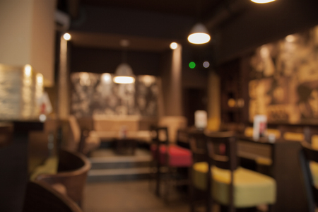 Blur or Defocus image of Coffee Shop or Cafeteria for use as Background,Serbia,Vranje,caffe,