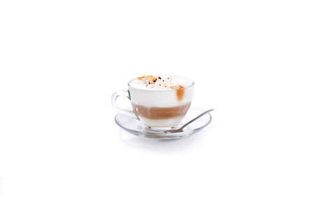 A Latte Coffee Isoalted coffee cup on white