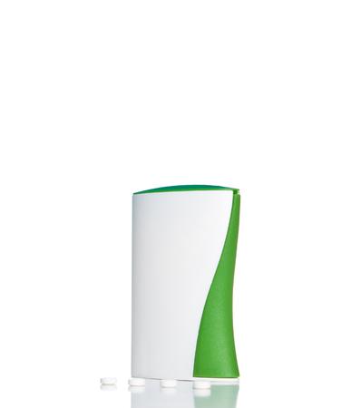 Sweetener tablet dispenser isolated on white background