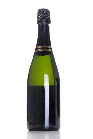 champagne bottle. isolated on white background.