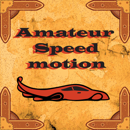 excellent quality: Amateur high-speed traffic. The new collection of the brand, sales of excellent quality stylish design, advertising, business card. Vintage retro background.