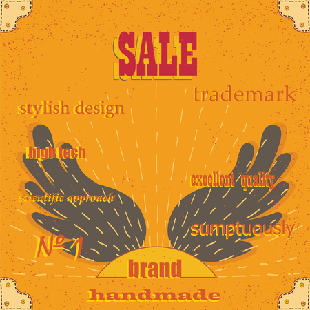 excellent quality: Selling stylish design. Business card or vintage background. Excellent quality stylish design