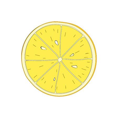 lemon slice: Lemon slice. isolated symbol of fruit lemon. Illustration