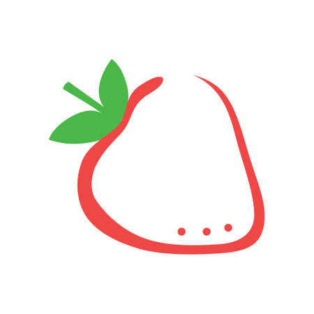 Strawberry isolated, icon of berry, used for brand.