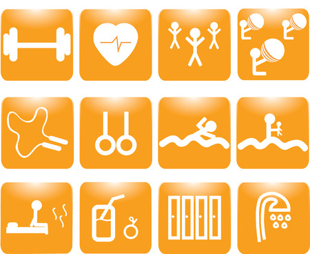 basics: Basics gym and fitness icons