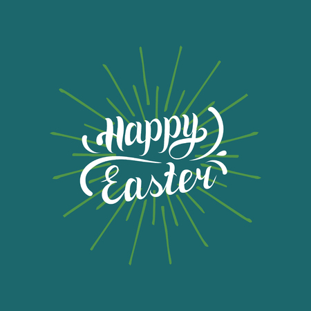 Happy Easter type greeting card. Religious holiday vector illustration for poster, flyer etc. Illustration