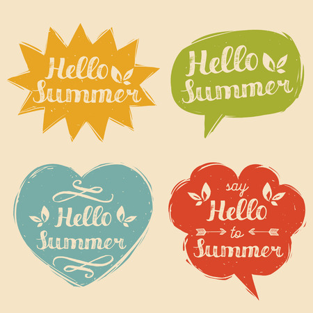 Say hello to summer in speech bubbles