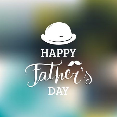 Vector Happy Fathers Day calligraphy for greeting card, festive poster etc. Illustration