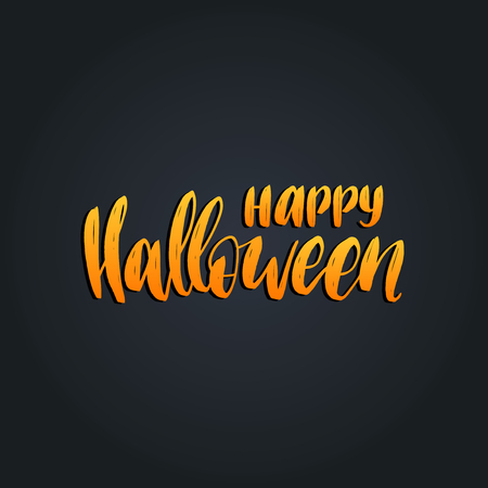 Happy Halloween lettering vector illustration for party invitation card, poster. All Saints Eve background.