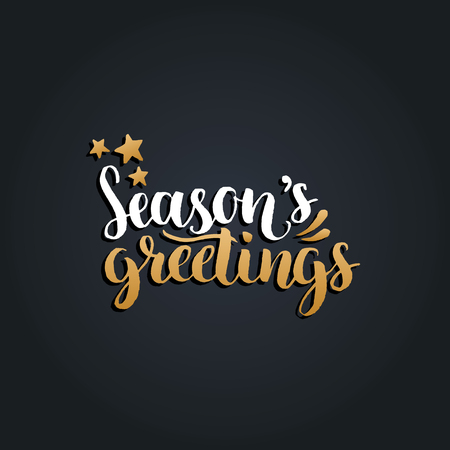 Vector seasons greetings lettering design on black background vector vector seasons greetings lettering design on black background christmasnew year typography for greeting card template m4hsunfo