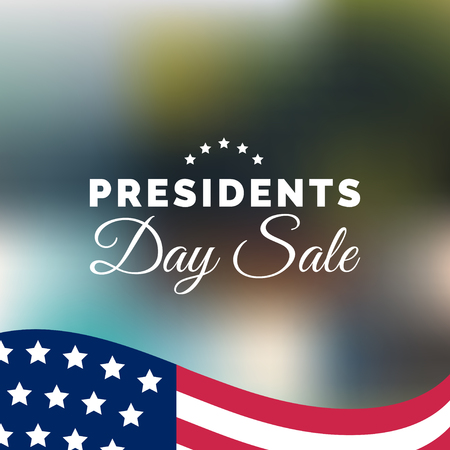 Happy Presidents Day Sale handwritten phrase in vector. National american holiday illustration with USA flag. Stock Vector - 94212180