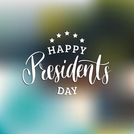 Expression manuscrite du jour des présidents heureux dans le vecteur. Utilisé pour l'affiche de vacances, carte de voeux, etc. Banque d'images - 94209237