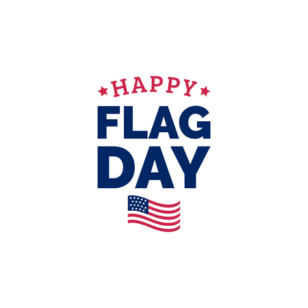 Happy Flag Day design concept. Vector illustration of national american holiday with US flag. Used for poster, card etc.