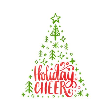 Handwritten phrase Holidays Cheer.