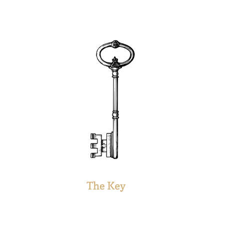 The Key of Knowledge and Power,vector illustration  イラスト・ベクター素材