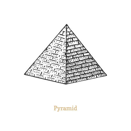Pyramid vector drawing of esoteric and occult sign