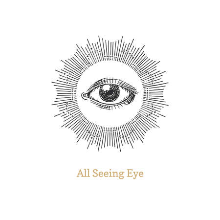 All seeing eye. Eye of Providence vector image. Ilustrace