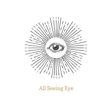All seeing eye. Eye of Providence vector image. Illustration
