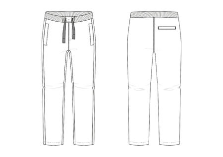 Technical sketch of man sports pants