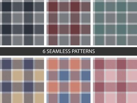 6 シームレスな四角いパターンのセットです。