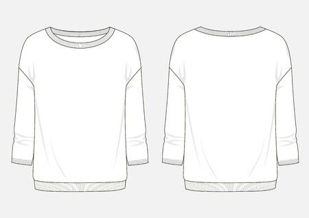 Fashion sketch of sweatshirt. Illustration