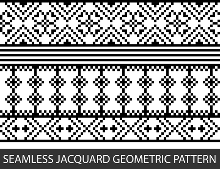 Seamless jacquard geometric pattern in vector graphic Illustration