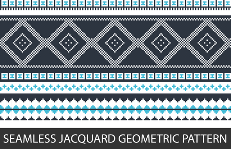 A Seamless jacquard geometric pattern in vector graphic Illustration