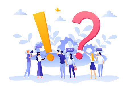 People give review rating and feedback. Customer review rating. Flat Design illustration. Customer choice. Know your client concept. Rank rating stars feedback. Business satisfaction support vector. Stock Illustratie