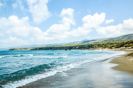 kibris: Paradise wild beach Stock Photo