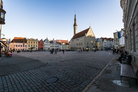 Tallinn, Estonia, November 3, 2018 Vanalinn old town Historic Centre of Tallinn Redactioneel