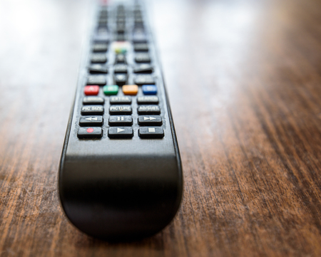 smart tv remote control buttons close up