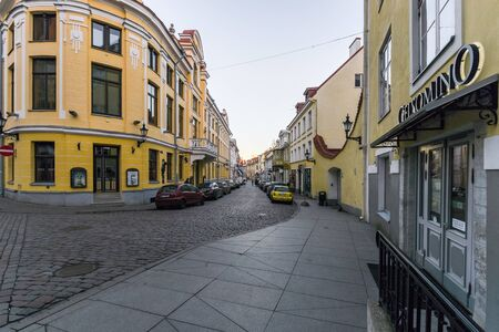 Tallinn, Estonia - November 4, 2018: Vanalinn old town Historic Centre of Tallinn