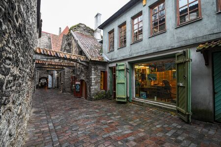 Tallinn, Estonia - November 3, 2018: Vanalinn old town Historic Centre of Tallinn