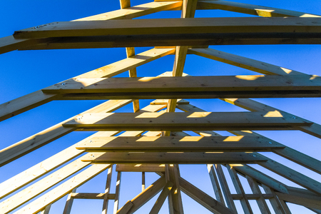budowa domu szkieletowego. budowa domu. przemysł budowlany Zdjęcie Seryjne
