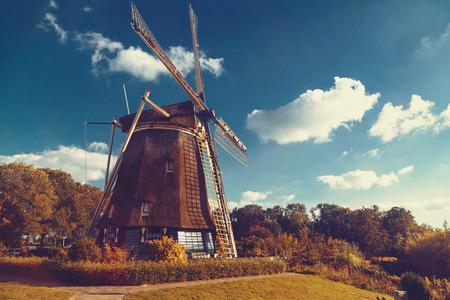 netherlands: windmill turns Netherlands