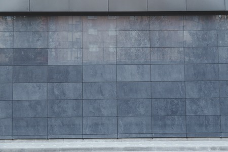 Metal wall tiles, wall detail facade, modern constrution 版權商用圖片