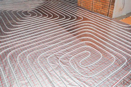 water floor heating system, underfloor heating